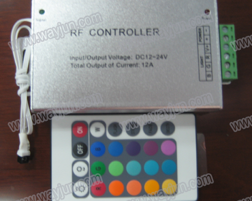 24 Keys IR Remote RGB LED Strip Controller(Aluminum Case)