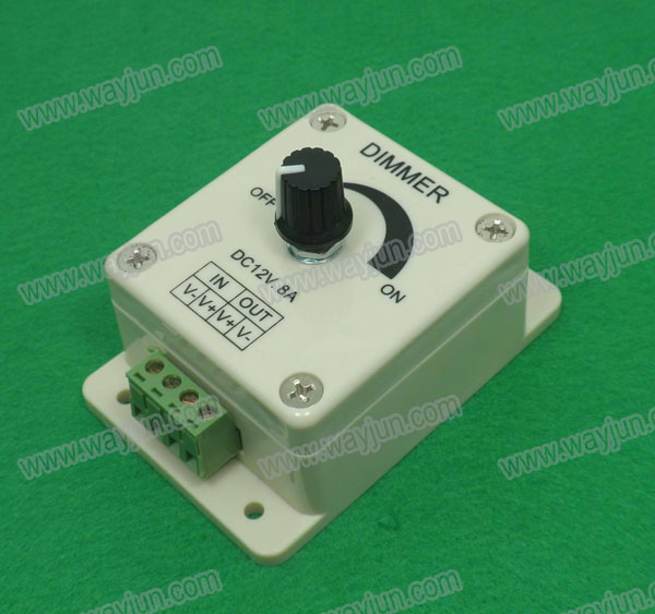 LED Dimmer 12V 8A Adjustable Brightness Controller