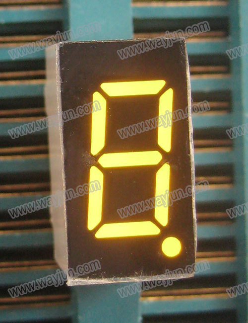 0.36 Inch 7 Segment Single Amber Digit LED Display