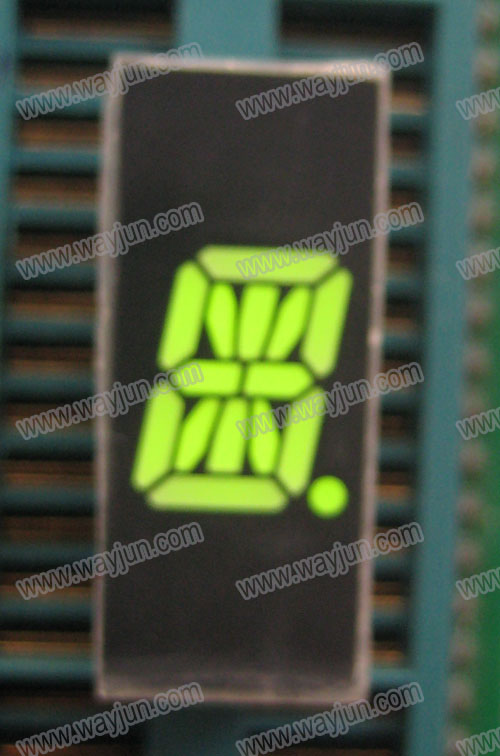 0.39 Inch Alpha Numeric Single Digit Green LED Display