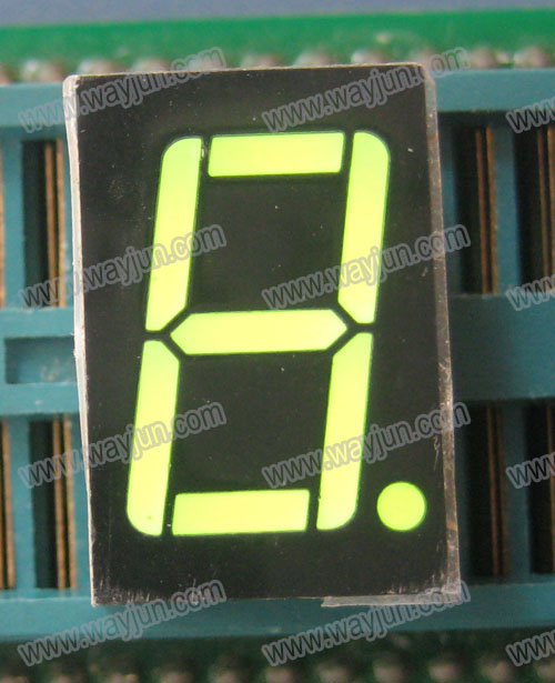0.56 Inch 7 Segment Single Digit Green LED Display