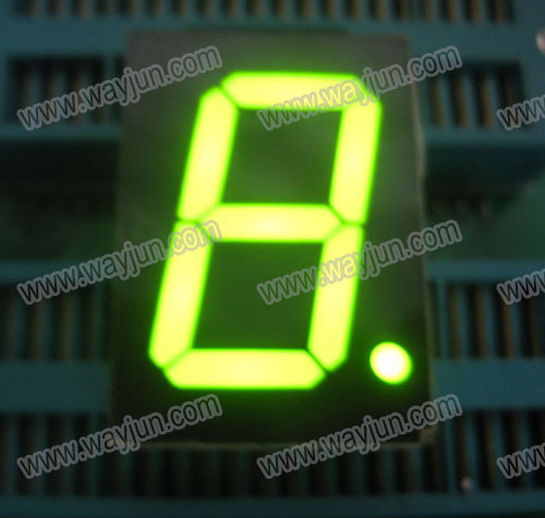 1.0 Inch 7 Segment Single Digit Green LED Display