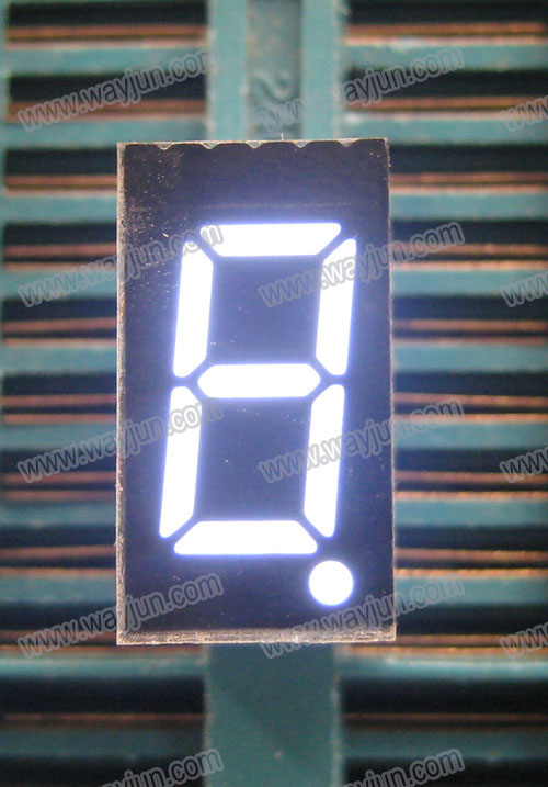 0.36 Inch 7 Segment Single Digit White LED Display