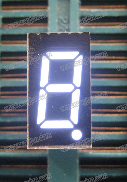 0.36 Inch 7 Segment Single Digit White LED Display