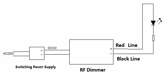 Wireless Remote RF LED Light Dimmer Controller