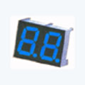 7 Segment Double Digit blue LED Display 0.36 Inch Anode