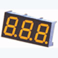 7 Segment Three Digit Yellow LED Display 0.36 Inch Anode