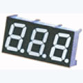 7 Segment Three Digit White LED Display 0.4 Inch Cathode