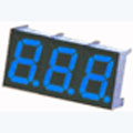 7 Segment Three Digit blue LED Display 0.36 Inch Anode