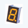 7 Segment Single Digit Yellow LED Display 0.8 Inch Cathode