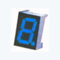 7 Segment Single Digit Blue LED Display 0.8 Inch Cathode