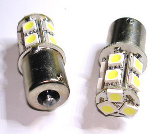 1156 Car Turn Tail Light Bulbs White 13 SMD 5050 LED