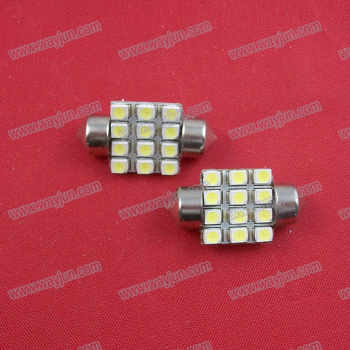 Car Interior Dome LED Bulb White Lamp 31mm (12 led)