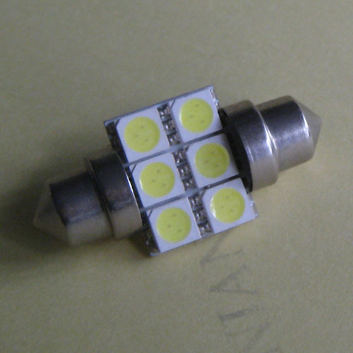 Car Interior Dome 6 SMD LED Bulb White Lamp 36mm 12V