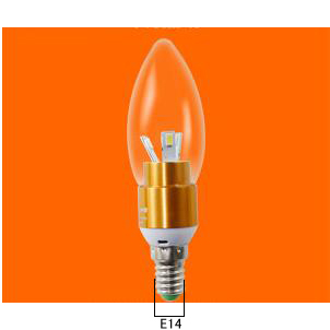 E14 3W high power led Candle Light Bulb