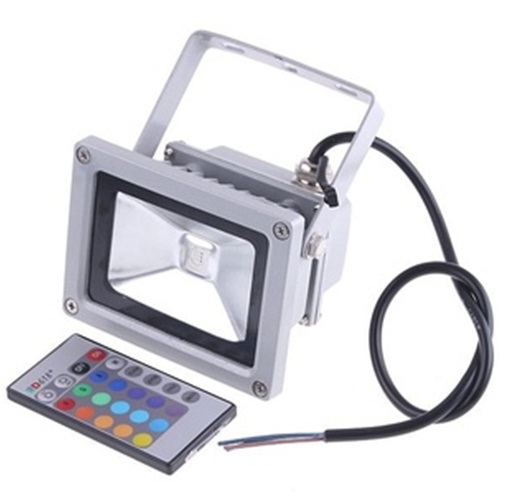10W RGB Color Changing Outdoor LED Flood Wash Light 85~265V