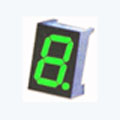 7 Segment Single Digit Green LED Display 1.0 Inch Anode