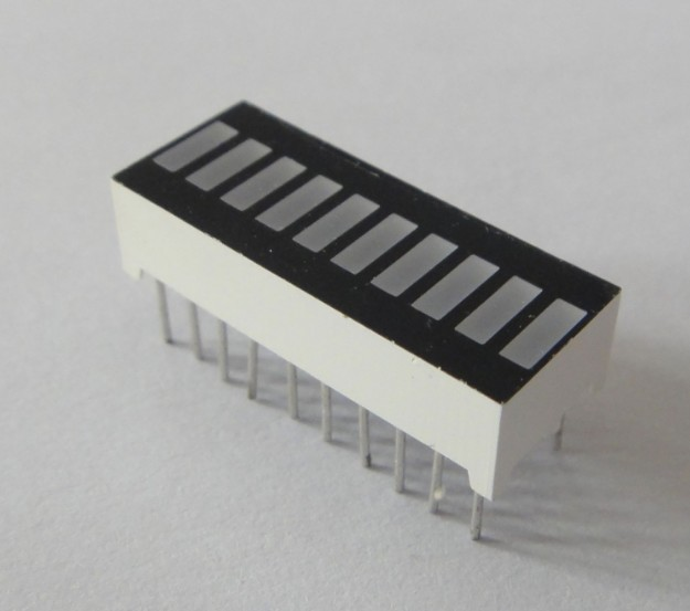 10 segment White LED Bar graph Array Display 25.5mm