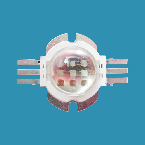 10W Full Color RGB High Power LED, Round With LENS