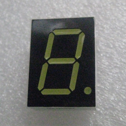7 Segment Single Digit White LED Display 0.8 Inch Anode