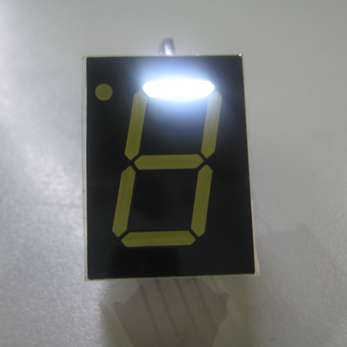 7 Segment Single Digit White LED Display 0.8 Inch Cathode