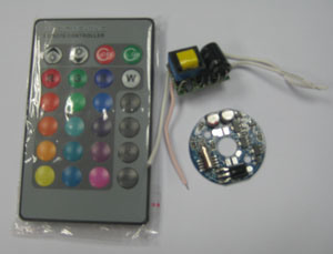 LED Driver for 1W RGB LED with Remote controller
