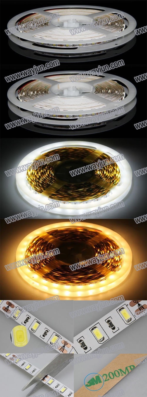 5630 SMD led flexible light strip,non-waterproof,5m,300 led