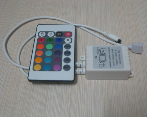 24 Keys IR Remote RGB LED Strip Controller 12V 6A