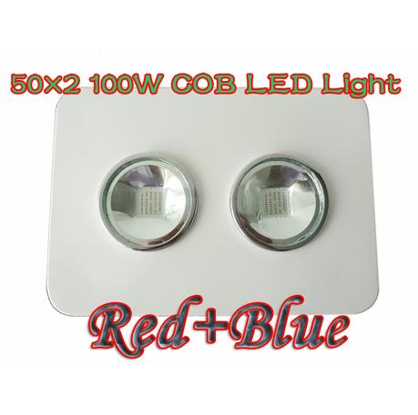 100W LED integrated plant grow lights COB light 2X50W