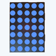 17.78mm (0.7 Inch) Super Blue 5x7 Dot Matrix LED Display