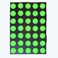 17.78mm (0.7 Inch) Super Green 5x7 Dot Matrix LED Display