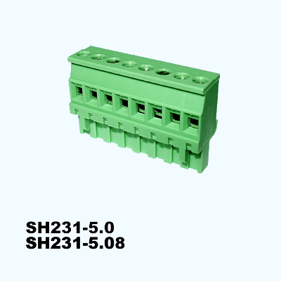 SH231-5.0,SH231-5.08,Pluggable Terminal Blocks