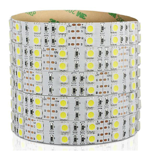 Double row 5050 SMD LED strip, 5m, 120LEDs / m